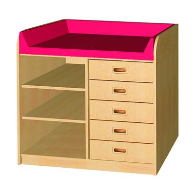 wickelkommode mit offenem regal und 5 schubk sten wko 03l my little. Black Bedroom Furniture Sets. Home Design Ideas