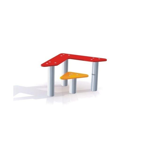 dreieck tisch und bank für spielplatz und kindergarten - my-little, Esstisch ideennn