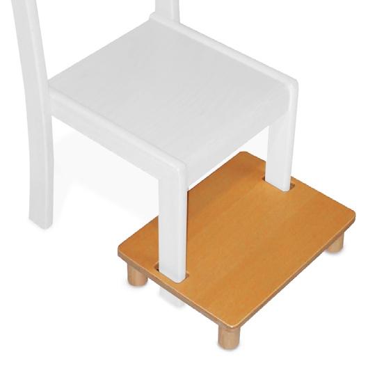 fu bank f r kindergartenstuhl stapelstuhl holz tim sfb my little. Black Bedroom Furniture Sets. Home Design Ideas