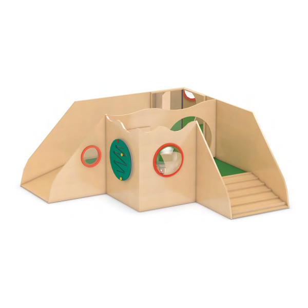 krabbelburg spielebene mini spielburg forschereck f r kinderkrippen kitas my little. Black Bedroom Furniture Sets. Home Design Ideas