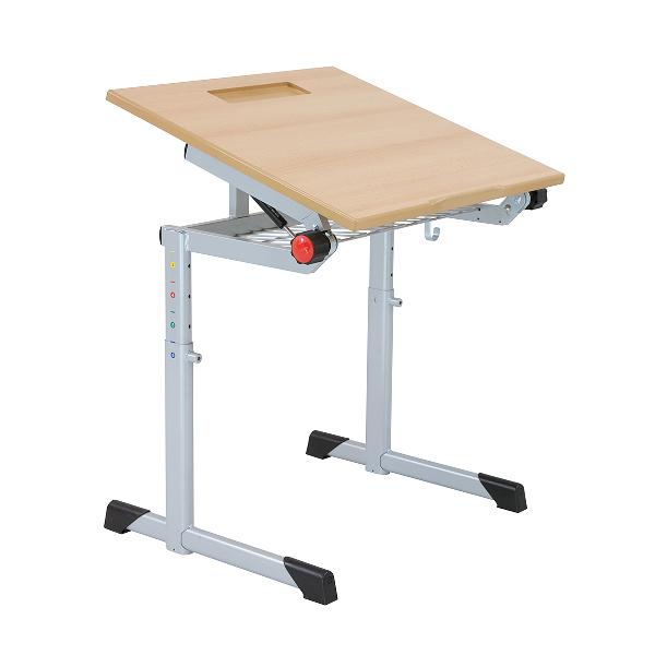 Schultisch maße  Schultisch, Schülertisch, höhenverstellbar, ganz neigbare Platte ...