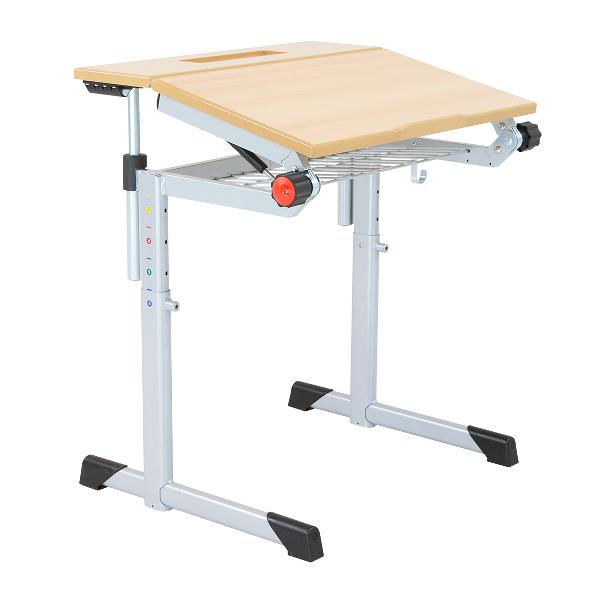 Schultisch maße  Schultisch, Schülertisch, höhenverstellbar, teilweise neigbare ...