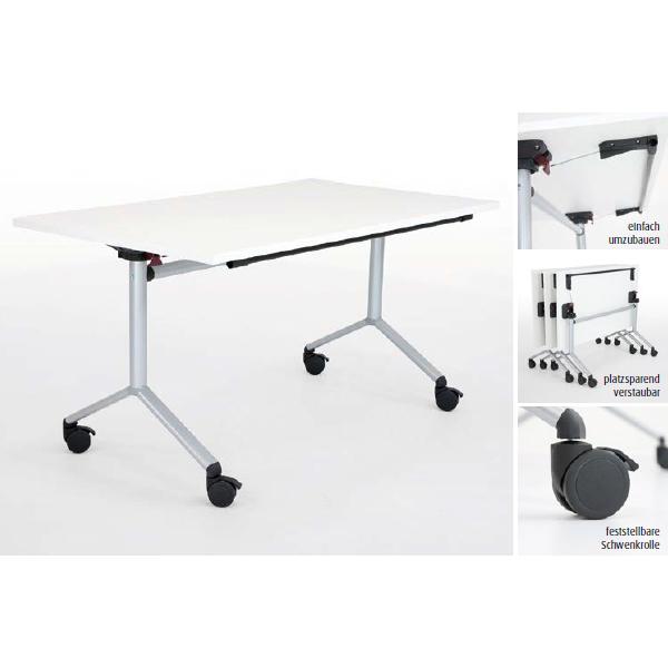 tisch mit klappbarer tischplatte