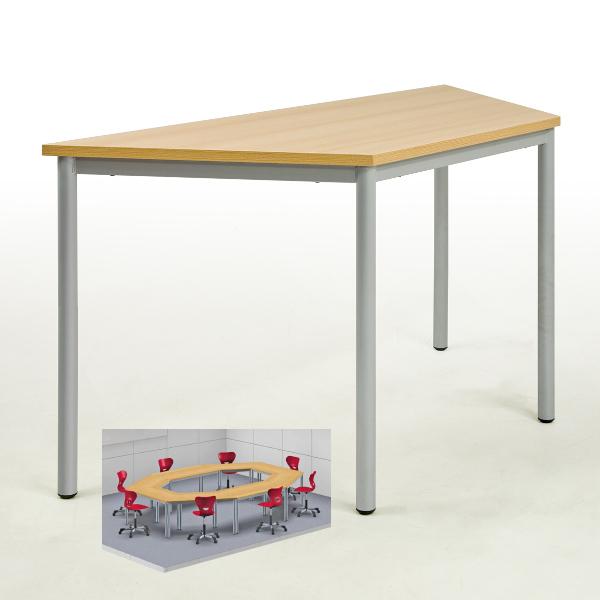 Schultisch maße  Schultisch, Werkraumtisch, Schülertisch Trapezform, stapelbar, von ...
