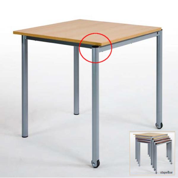 Schultisch maße  Schultisch, Stapeltisch, optional mit Rollen, quadratisch oder ...