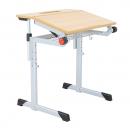 Schultisch maße  Schultisch, Schülertisch Zweisitzer Basic 130 x 50 cm, Rundrohr ...